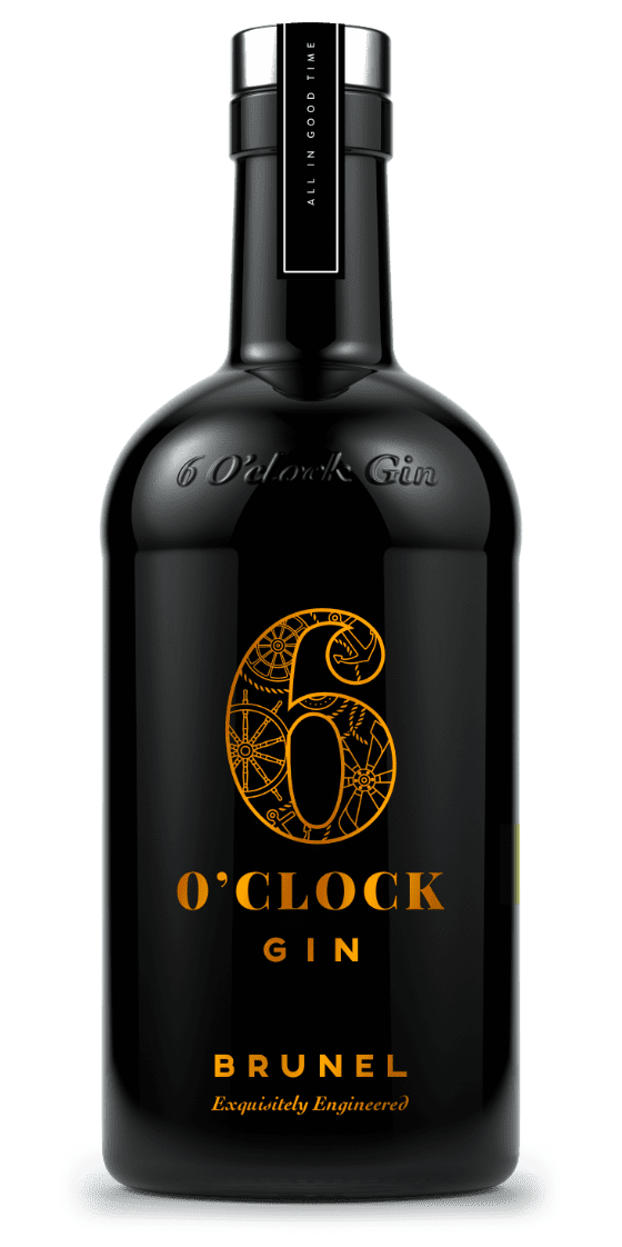 6 O'clock Gin – Brunel Edition 50% Vol – 70cl