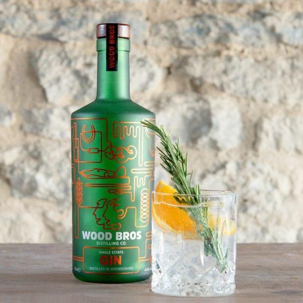 Wood Bros Single Estate Gin 44% - 70cl