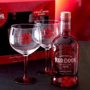 Red Door Gin and Glasses Gift Set