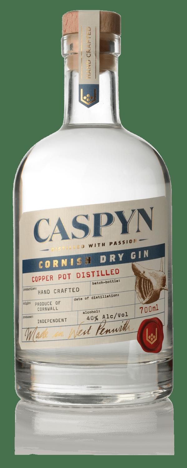 Caspyn Cornish Dry Gin 40% ABV, 70cl